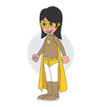 superhero cartoon theme vector image vector image