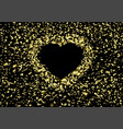 the background heart flying pieces foil vector image vector image