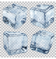 Transparent ice cubes in light blue colors vector image vector image