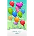 vertical banner with cartoon balloons