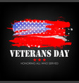 veterans day with usa flag background vector image vector image