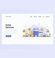 web design flat modern concept - hotel services vector image vector image