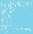winter celebration blue background with white vector image vector image