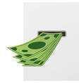 withdraw money from atm slot vector image