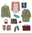 Woman clothing and Accessories vector image