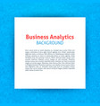 business analytics paper template vector image