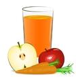 fresh fruits juice vector image