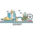 sidney city skyline buildings streets vector image