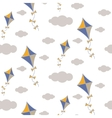 Kite in sky seamless pattern vector image