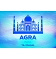 agra Taj Mahal india blue background vector image vector image
