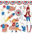 american symbolics vector image vector image