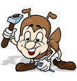 ant holding hammer vector image vector image