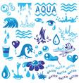 aqua vector image vector image