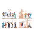 architects and engineers working on architecture vector image