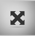 arrows in four directions icon on grey background vector image vector image
