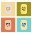 assembly flat icons poker diamond symbol vector image