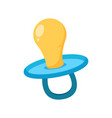 baby pacifier icon flat vector image