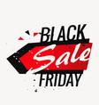 black friday sale background poster in grunge vector image vector image