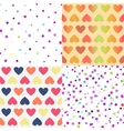 Bright seamless patterns set vector image vector image