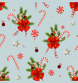 candy cane and ribbon decor vector image
