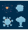 Cartoon bomb explosion with smoke vector image vector image