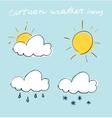 Cartoon weather icons set vector image