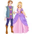 charming prince and beautiful princess vector image vector image