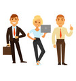 cheerful office workers vector image vector image