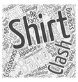 clash t shirt Word Cloud Concept vector image vector image