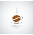 coffee cup bean design background vector image vector image