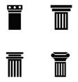 column icon set vector image vector image