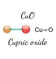 CuO cupric oxide molecule vector image vector image