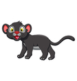 cute black panther posing vector image
