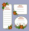 cute christmas set with cards notes stickers vector image vector image