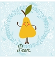 Cute sweet pear character vector image vector image