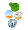 diverse environment ecosystem set vector image