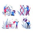 dna and molecule structure genetics science vector image