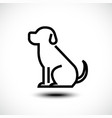 dog line icon linear concept sign or logo element vector image