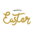 easter gold lettering golden text with sparkles vector image vector image