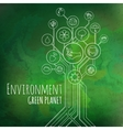 Ecology Infographic Environment Green Planet vector image vector image