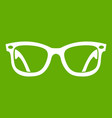 eyeglasses icon green vector image vector image