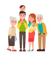family with good emotions vector image