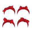 female lifestyle red bandanas vector image