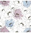 Floral background flower seamless pattern vector image