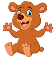 Funny Bear cartoon vector image