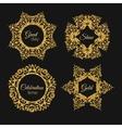 gorden glitter frame Vintage gold frames vector image vector image
