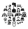 guest icons set simple style vector image vector image