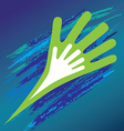 Hand of the child in father encouragement help vector image vector image