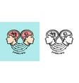 human psychology sharing concept nervous system vector image