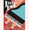 international jazz festival concert music vector image vector image